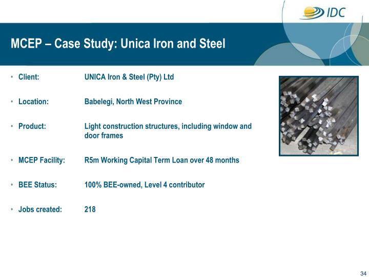 MCEP – Case Study: Unica Iron and Steel