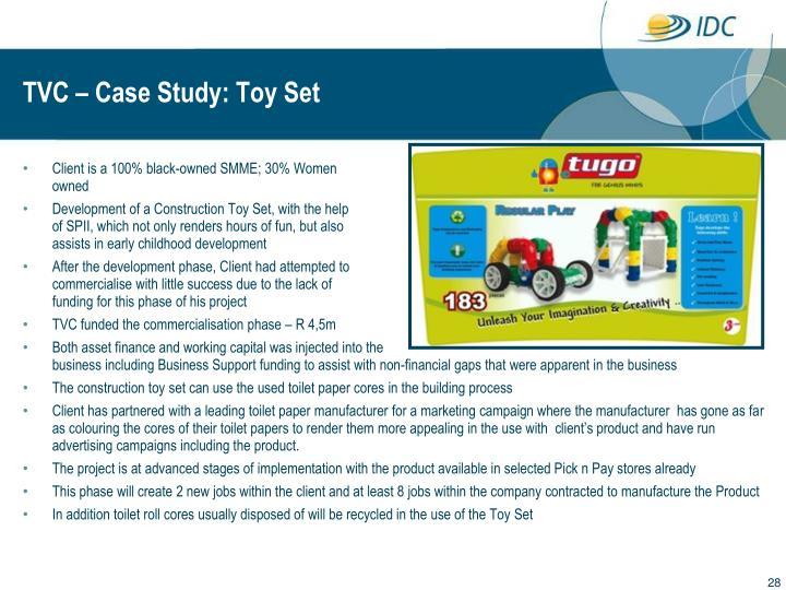 TVC – Case Study: Toy Set