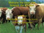 methane the issue the science the solution
