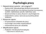 psychologia pracy