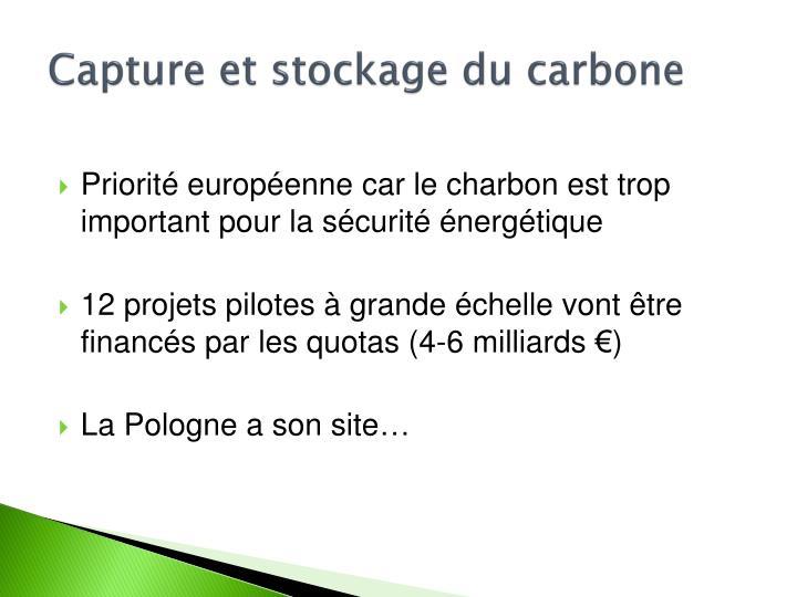 Capture et stockage du carbone