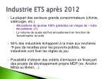 industrie ets apr s 2012