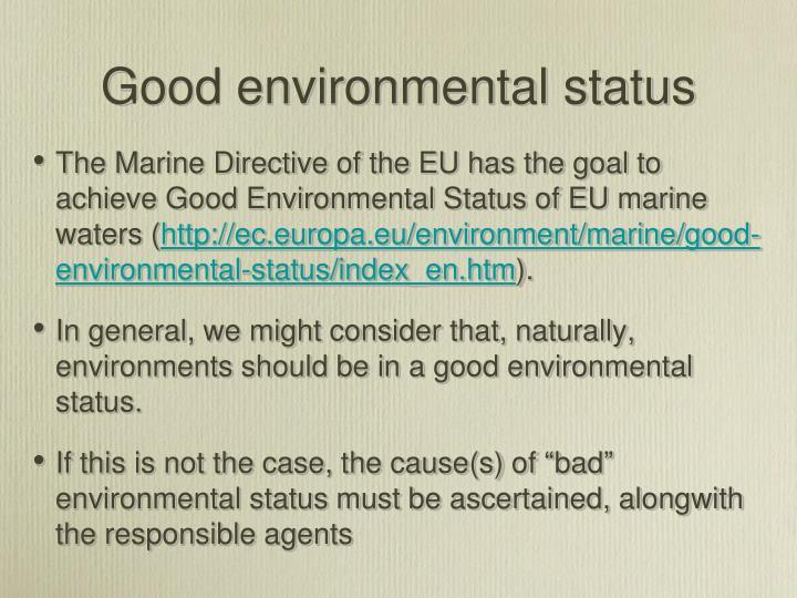 Good environmental status