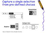 capture a single selection from pre defined choices1