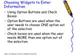 choosing widgets to enter information1