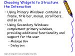 choosing widgets to structure the interaction1