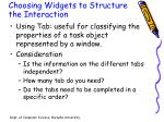 choosing widgets to structure the interaction2