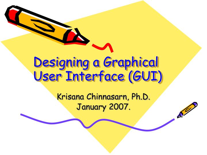 designing a graphical user interface gui n.