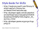 style guide for guis
