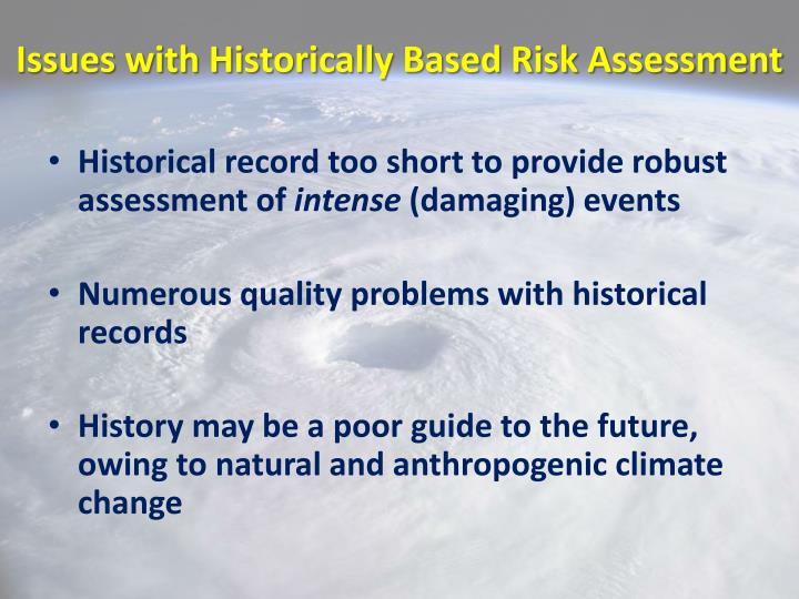 Issues with Historically Based Risk Assessment