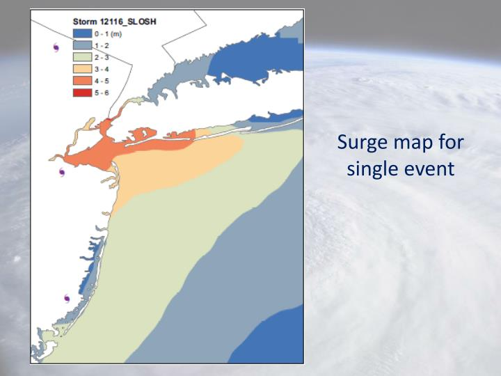 Surge map for single event