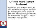 key issues influencing budget development1