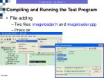 compiling and running the test program6