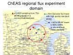 cheas regional flux experiment domain