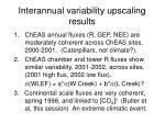 interannual variability upscaling results