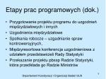 etapy prac programowych dok