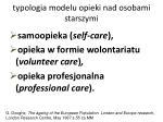 typologia modelu opieki nad osobami starszymi