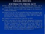 legal issues extracts from act1