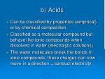 b acids