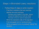 steps in bronsted lowry reactions