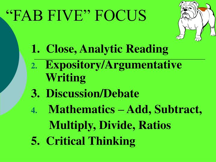 """FAB FIVE"" FOCUS"