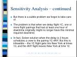 sensitivity analysis continued1