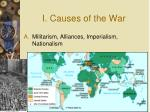 i causes of the war