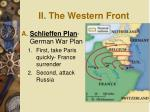 ii the western front