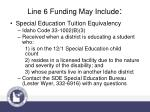 line 6 funding may include1