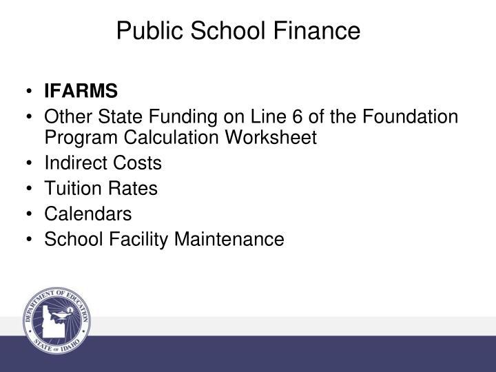 Public school finance