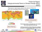 follow up report intergovernmental panel on climate change ipcc 2007