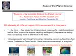 state of the planet course