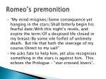 romeo s premonition