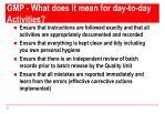gmp what does it mean for day to day activities2