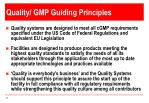 quality gmp guiding principles