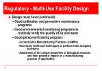 regulatory multi use facility design1