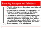 some key acronyms and definitions