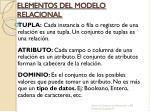 elementos del modelo relacional1