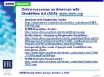 online resources on american with disabilities act ada www shrm org