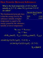 heat transfer between substances