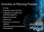 evolution of planning process