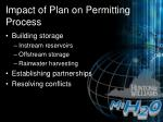 impact of plan on permitting process