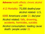 adverse health effects chronic alcohol use7