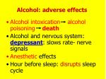 alcohol adverse effects