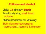 children and alcohol
