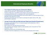 international employee benefits