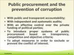 public procurement and the prevention of corruption1