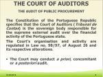 the court of auditors the audit of public procurement