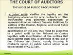 the court of auditors the audit of public procurement1