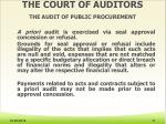 the court of auditors the audit of public procurement2